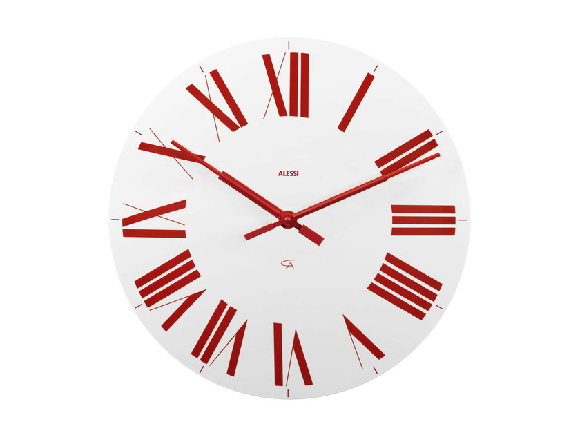 Wall-mounted ABS clock FIRENZE by Alessi