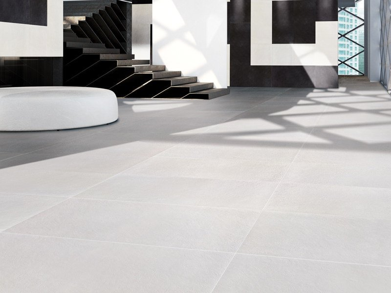 Antibacterial porcelain stoneware wall/floor tiles WHITE GROUND ...