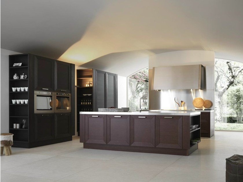 Solid wood fitted kitchen NOA - COMPOSITION 1 by Cesar
