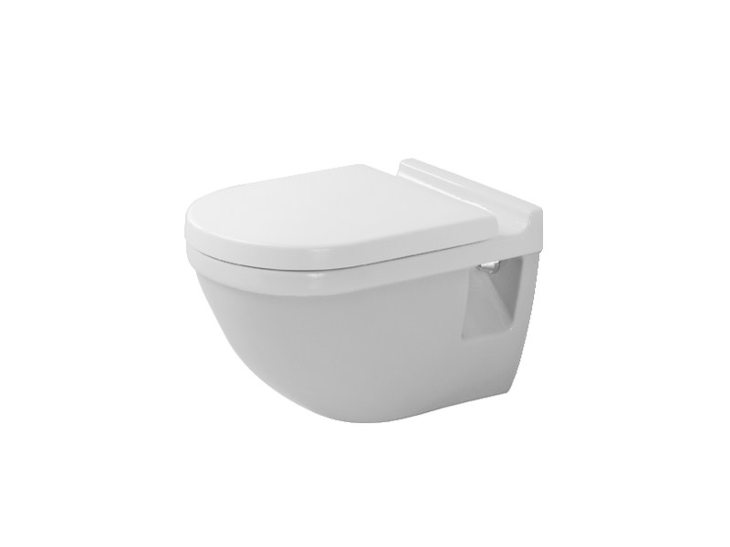 Wall-hung ceramic toilet STARCK 3 | Wall-hung toilet by Duravit