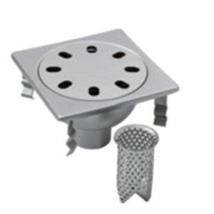 Manhole cover and grille for plumbing and drainage system Standard gully P002 by LEONI
