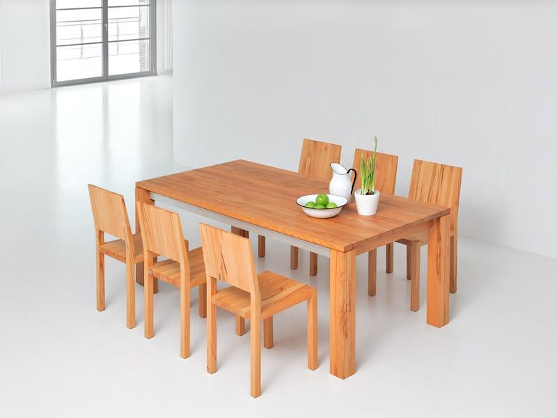 Tavolo allungabile rettangolare in legno massello AMBER - Vitamin Design