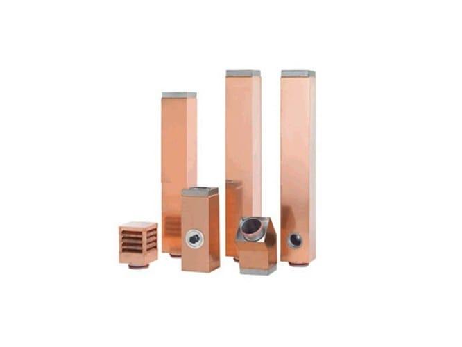 Copper flue CaminQUADRO copper by IPIESSE