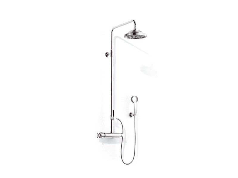 Thermostatic shower mixer with overhead shower MADISON   Thermostatic shower mixer by Dornbracht