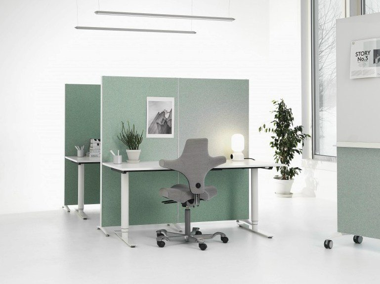Modular workstation screen ALUMI by Abstracta