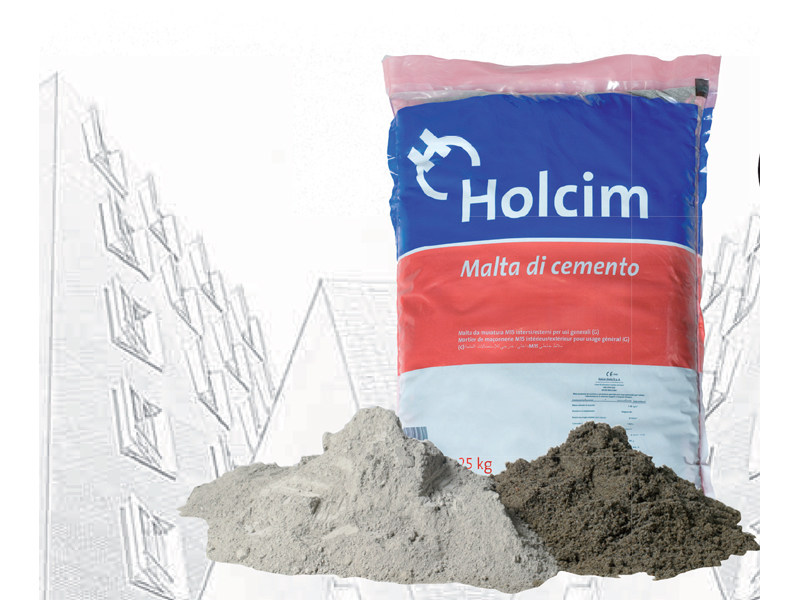 Mortar for masonry Malta di Cemento M15 by Holcim-italia