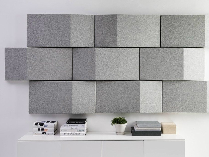 Fabric decorative acoustical panel TRILINE WALL By Abstracta ...