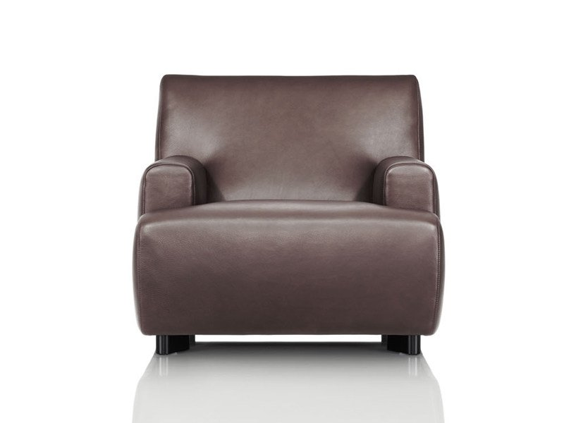 Upholstered leather armchair SABRA | Armchair by Wittmann