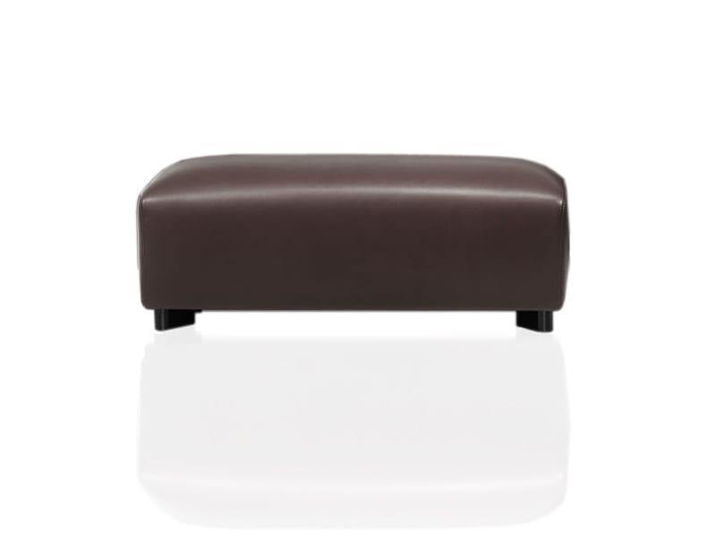 Leather footstool SABRA | Footstool by Wittmann