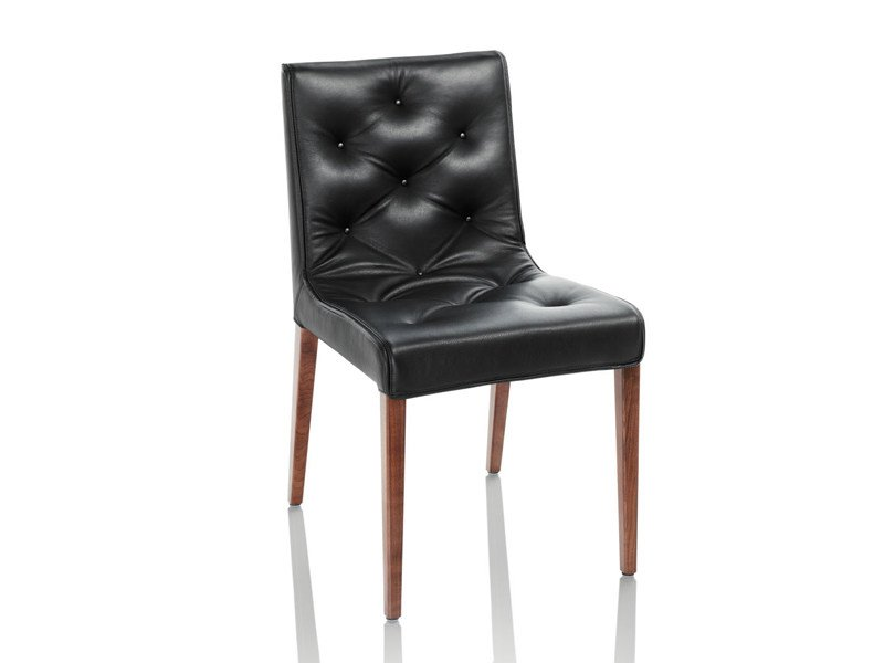 Upholstered chair LESLIE | Chair by Wittmann