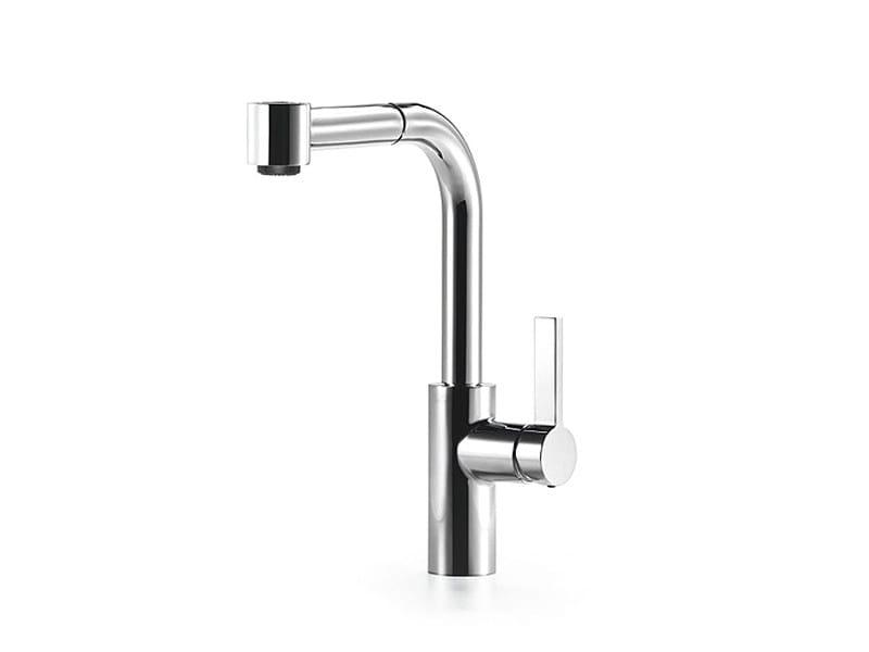 Kitchen mixer tap with pull out spray ELIO By Dornbracht ...