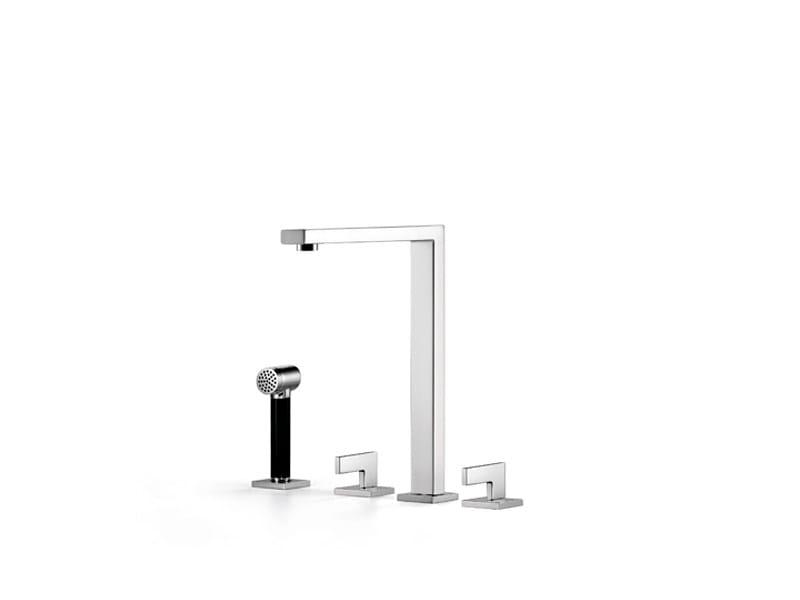 3 hole kitchen tap with spray 20 810 680 | Kitchen tap with spray by Dornbracht