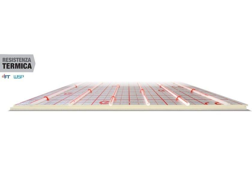 Expanded polyurethane Radiant floor panel EUROSUPER by Eurotherm