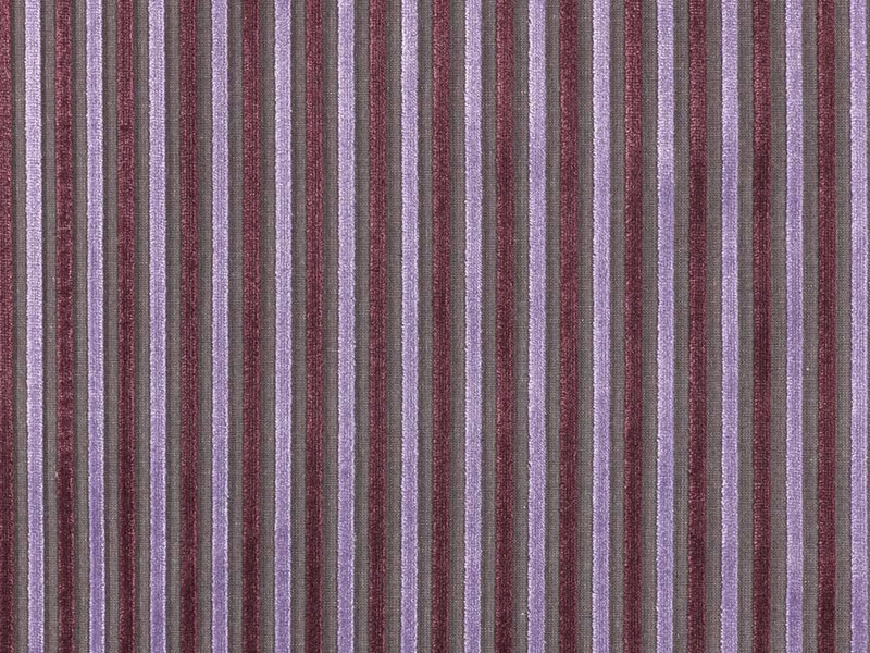 Striped viscose fabric for curtains MIXAGE by Dedar