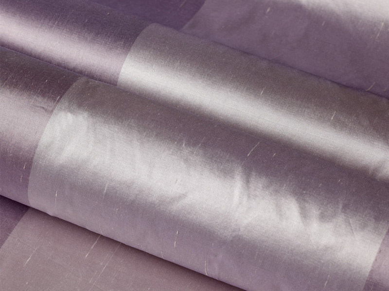 Striped silk fabric for curtains GIOIA by Dedar