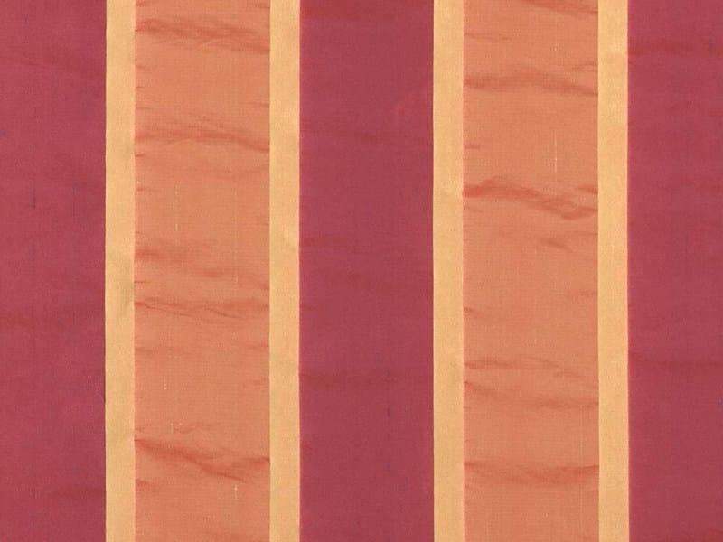 Striped washable taffeta fabric for curtains LEONIA by Dedar