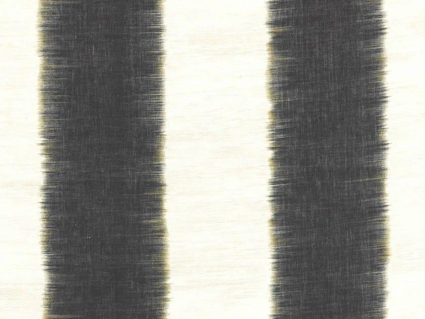Striped linen fabric for curtains SOHO-BRUSH by Dedar