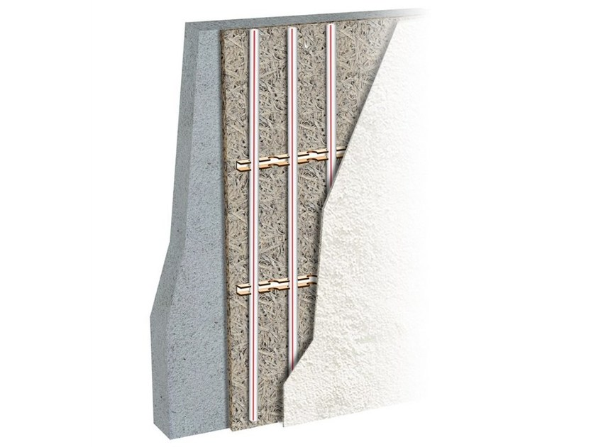 Wood fibre Radiant wall panel ECOWALL by Eurotherm