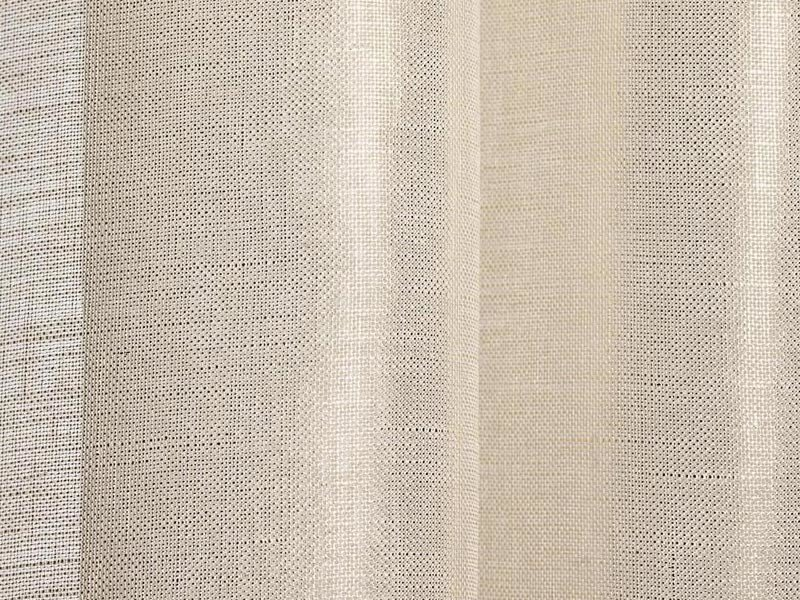 Solid-color linen fabric for curtains BRINA by Dedar