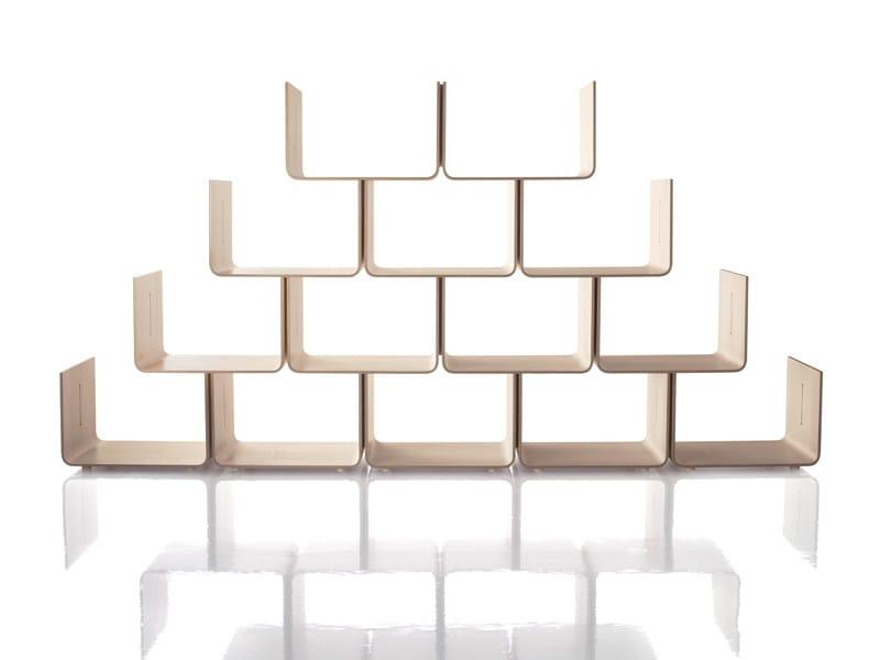 Sectional maple bookcase ELYSÉE by Magis
