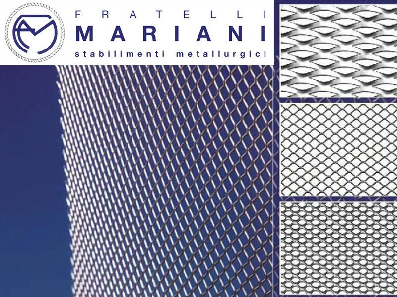 Pierced and stretched sheet metal EXPANDED AND MICROEXPANDED METAL by Fratelli Mariani