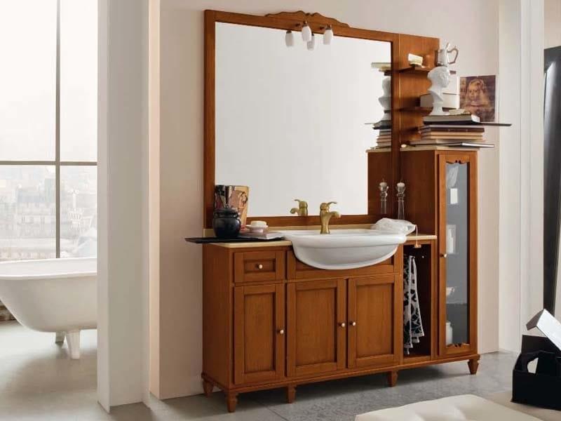 Floor-standing wooden vanity unit YORK 5 | Vanity unit by Cerasa