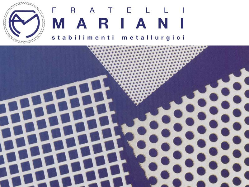 Pierced and stretched sheet metal METALLIC MESH by Fratelli Mariani