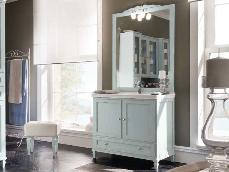 Single vanity unit with doors with drawers YORK 8 | Vanity unit by Cerasa