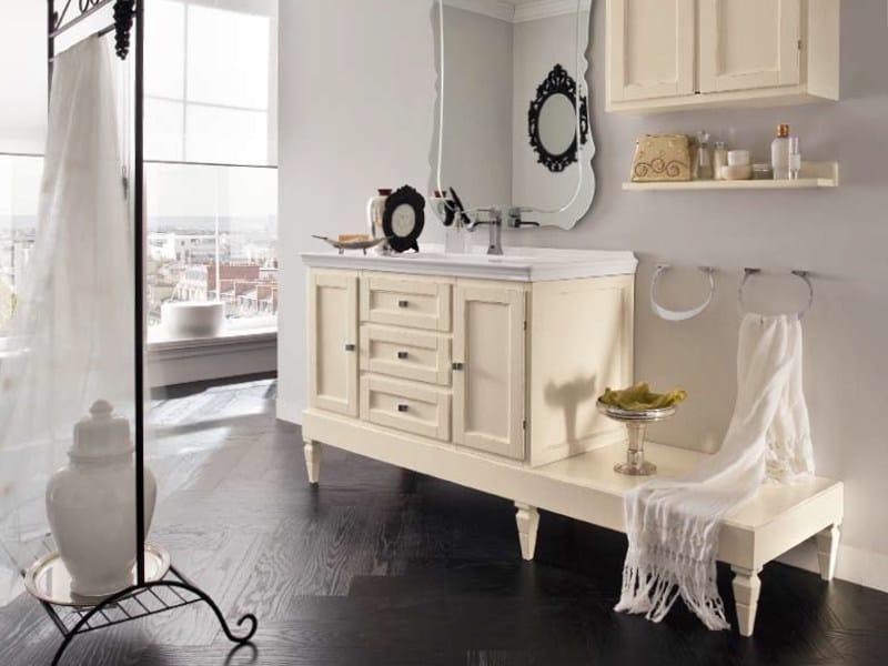 Single wooden vanity unit YORK 10   Vanity unit by Cerasa