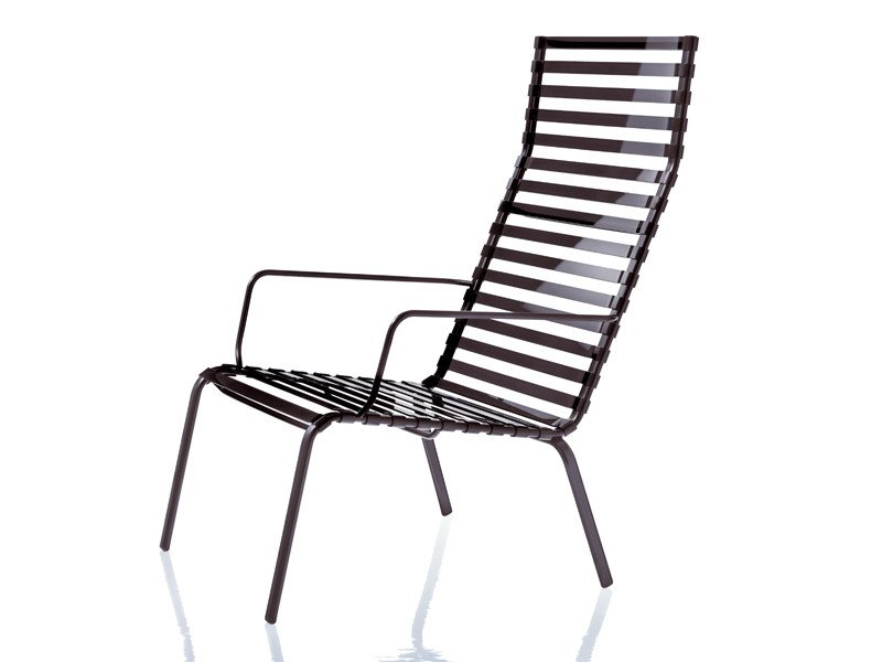 High-back armchair with armrests STRIPED | Armchair with armrests by Magis