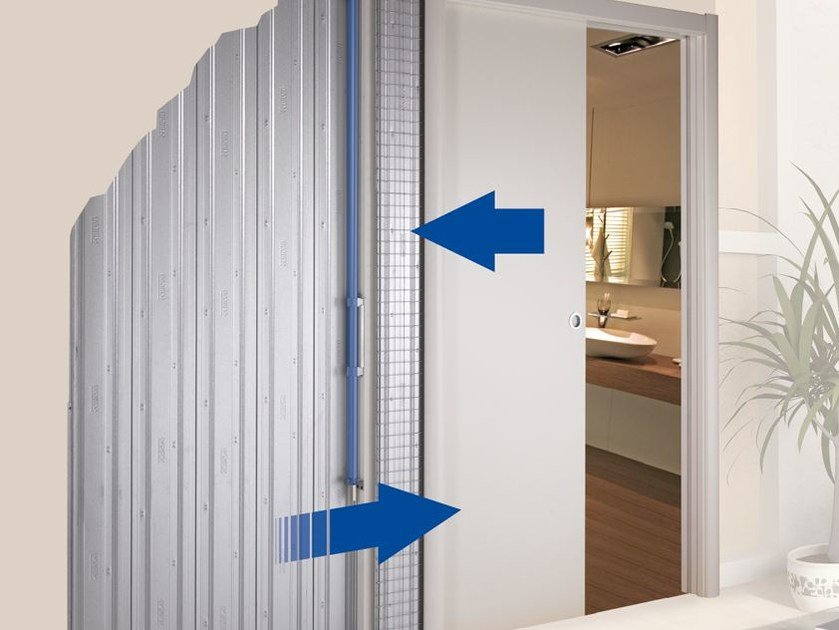 Pneumatic system for slow sliding door closure Kit Dinamico by Scrigno : pneumatic pocket doors - pezcame.com