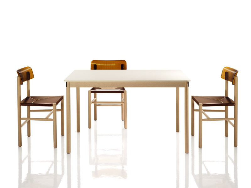 Rectangular wooden table TRATTORIA   Table by Magis