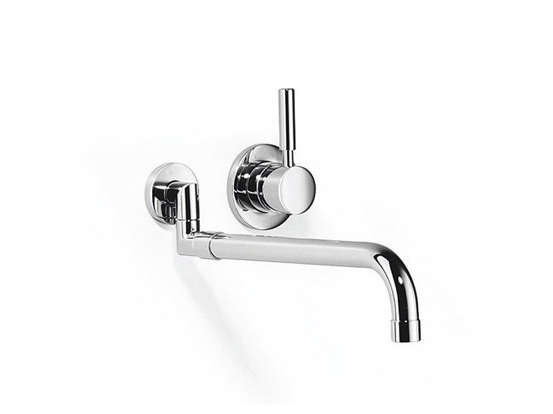 Wall-mounted kitchen tap with pull out spray 36 851 625 | Kitchen mixer tap by Dornbracht