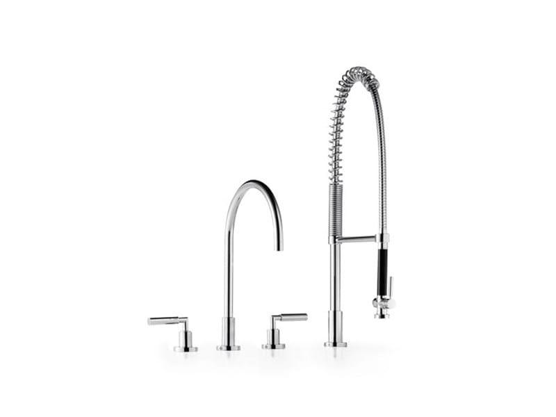 3 hole kitchen tap with spray 20 815 882 | Kitchen tap with spray by Dornbracht