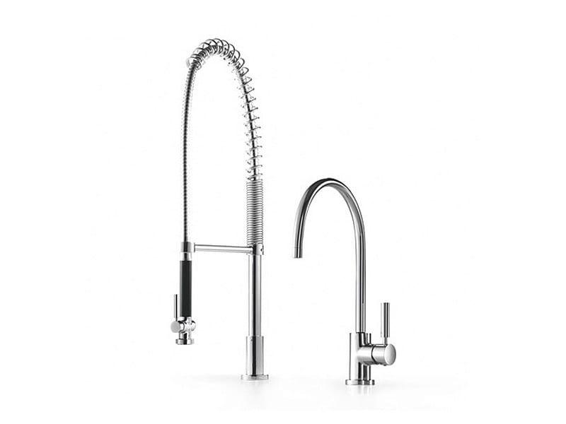 Kitchen tap with spray 33 826 888   Kitchen mixer tap with spray by Dornbracht
