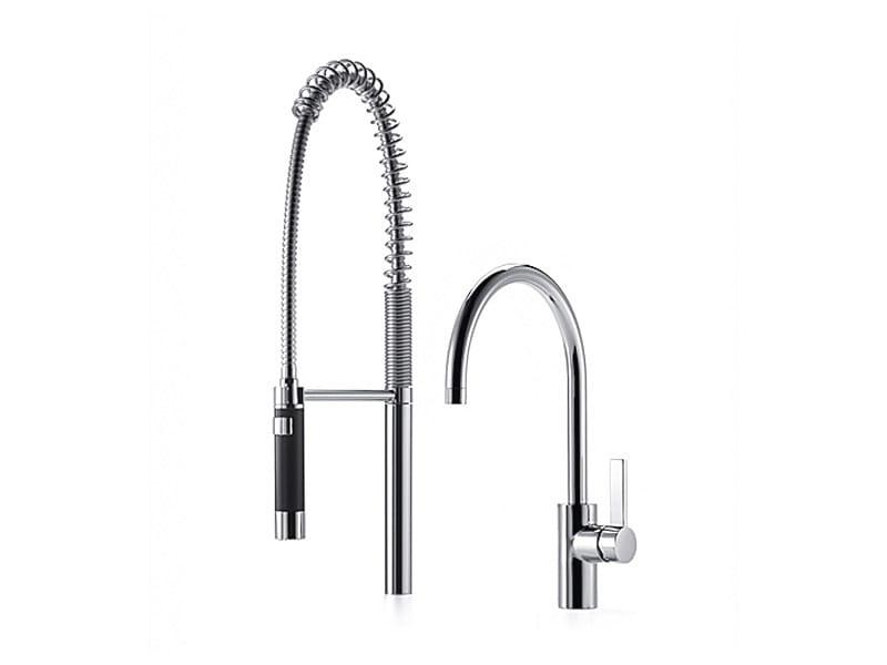 Kitchen tap with spray 33 826 875 | Kitchen mixer tap with spray by Dornbracht