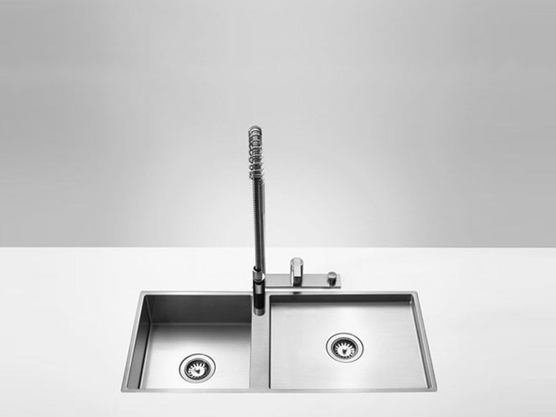 2 bowl flush-mounted sink 38 501 000 | Sink by Dornbracht