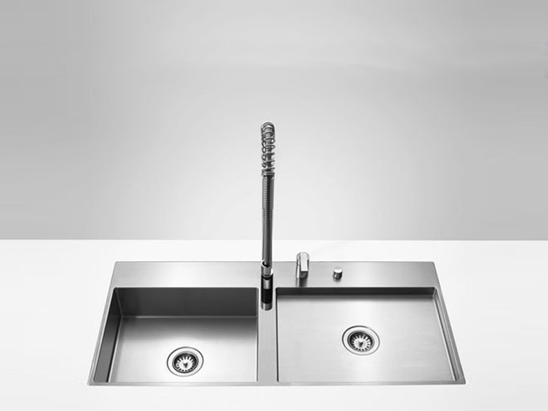 2 bowl flush-mounted sink 38 521 000 | Sink by Dornbracht
