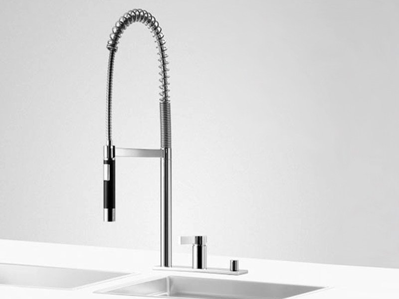 Kitchen mixer tap with pull out spray PREP SET 1 by Dornbracht