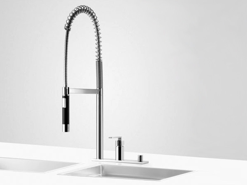 Kitchen mixer tap with pull out spray PREP SET 2 by Dornbracht