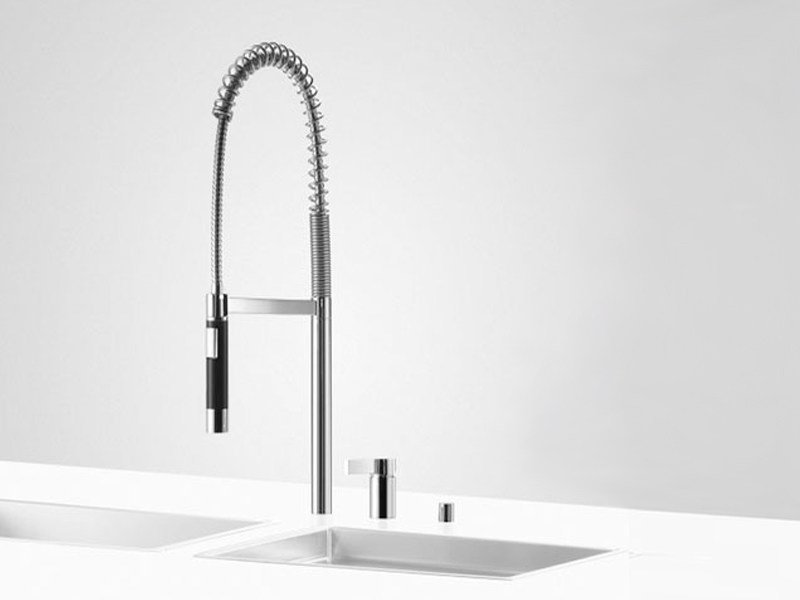 Kitchen mixer tap with pull out spray PREP SET 3 by Dornbracht