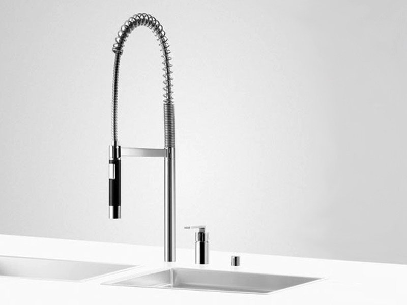 Kitchen mixer tap with pull out spray PREP SET 4 by Dornbracht