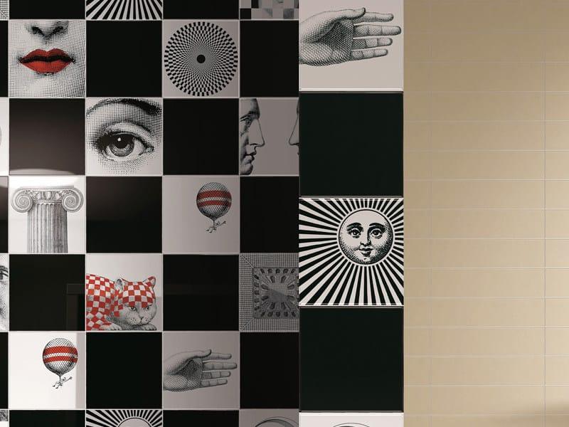 Ceramic wall tiles FORNASETTIANA by Ceramica Bardelli