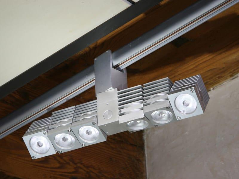 Illuminazione a binario a LED in alluminio GEMINI PLUS LED | Binario by Tecnoilluminazione