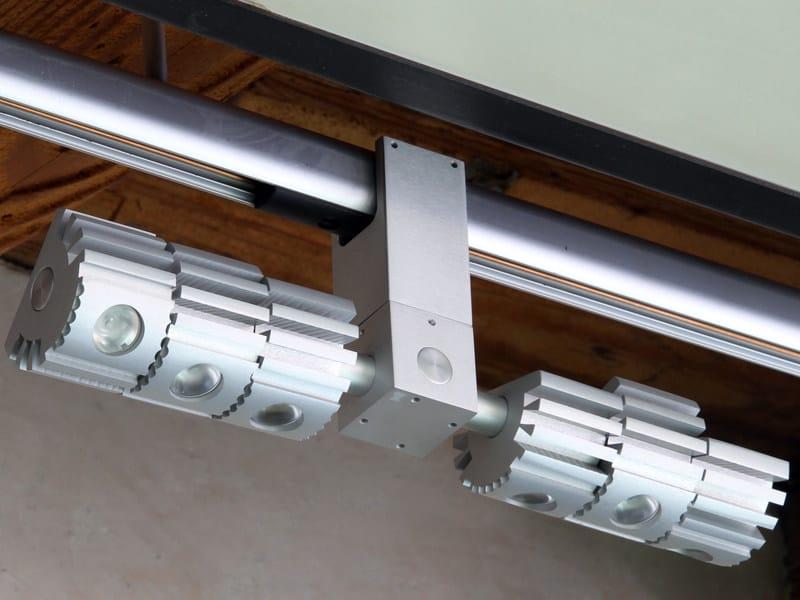 Illuminazione a binario a LED in alluminio ARIES LED  Binario - Tecnoilluminazione