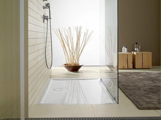 Piatto doccia filo pavimento in Quaryl® FUTURION FLAT | Piatto doccia by Villeroy & Boch