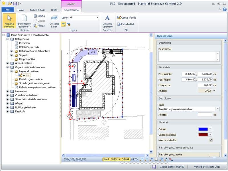 SICUREZZA CANTIERI SICUREZZA CANTIERI - CAD integrato per la creazione dei layout di cantiere