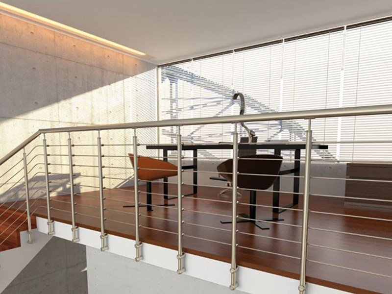 Stainless steel balustrade TUBE 33 by RINTAL