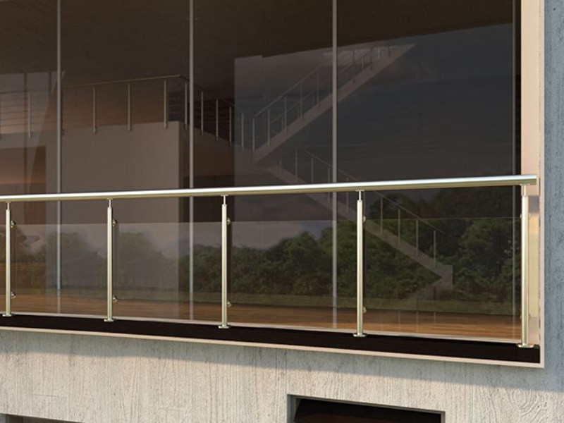 Glass and Stainless Steel Window railing QUBE by RINTAL