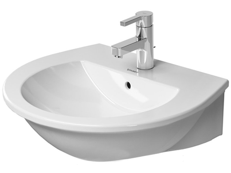 Single wall-mounted ceramic washbasin DARLING NEW | Washbasin by Duravit